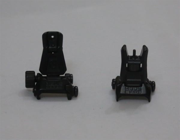 MBUS Pro Front / Rear Sight - Black