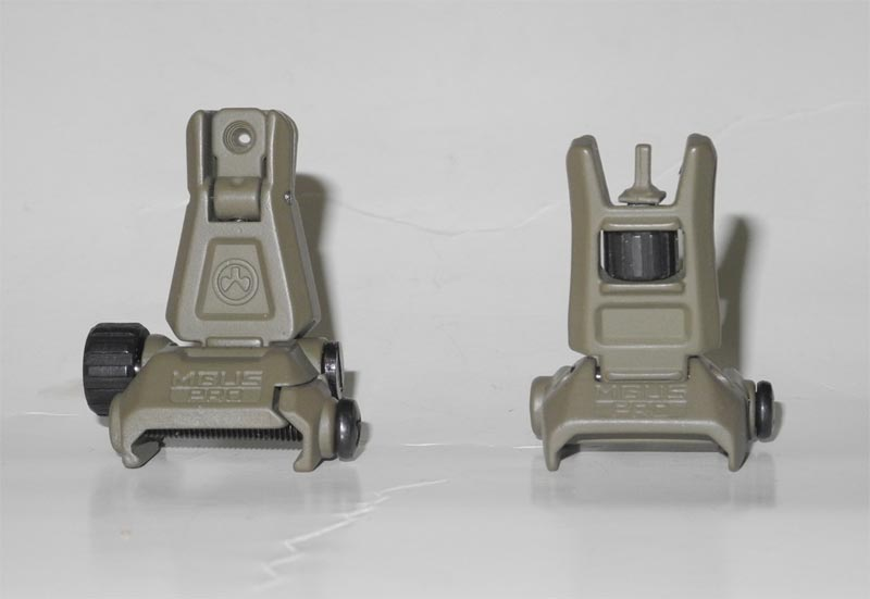 MBUS Pro Front / Rear Sight - Dark Earth