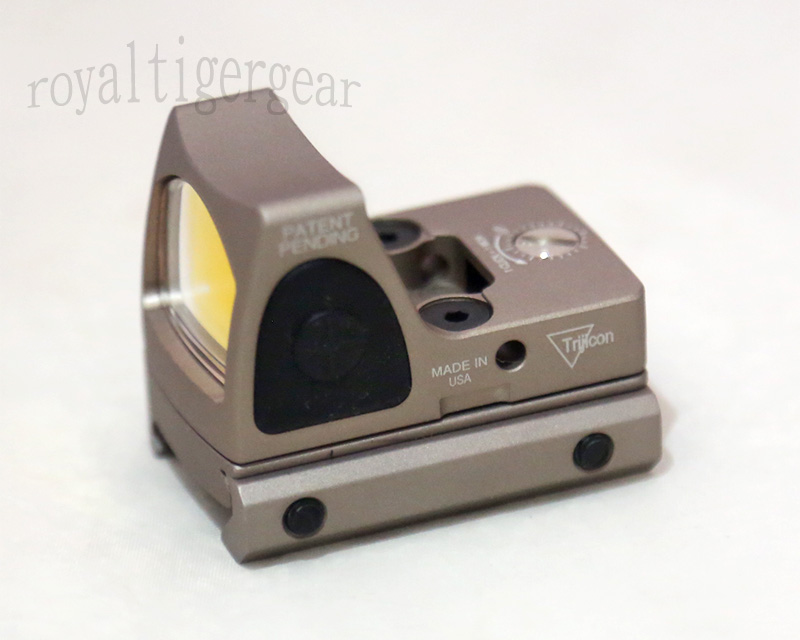 RMR style Red Dot Holographic Weapon Sight w/ 1913 Mount - Dark Earth