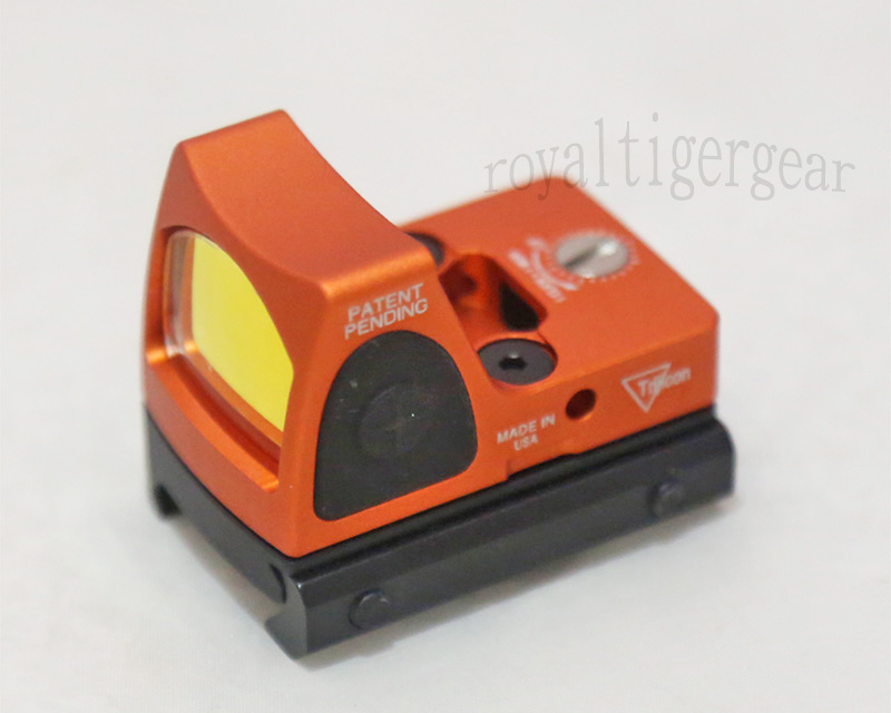RMR style Red Dot Holographic Weapon Sight w/ 1913 Mount - Orange
