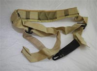 Single Point Shoulder Sling with Pads - Tan