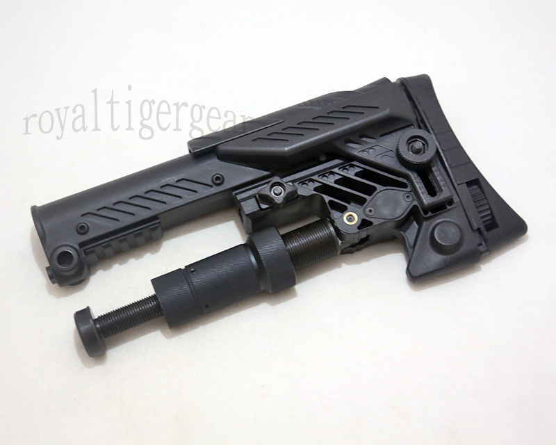 SRS ARS - AR style Multi Purpose Position Sniper Buttstock - Ver.Long - Black