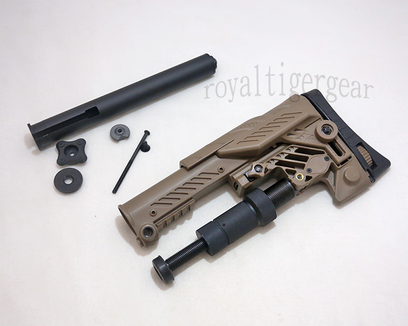 SRS ARS - AR style Multi Purpose Position Sniper Buttstock - Ver.Long - Dark Earth