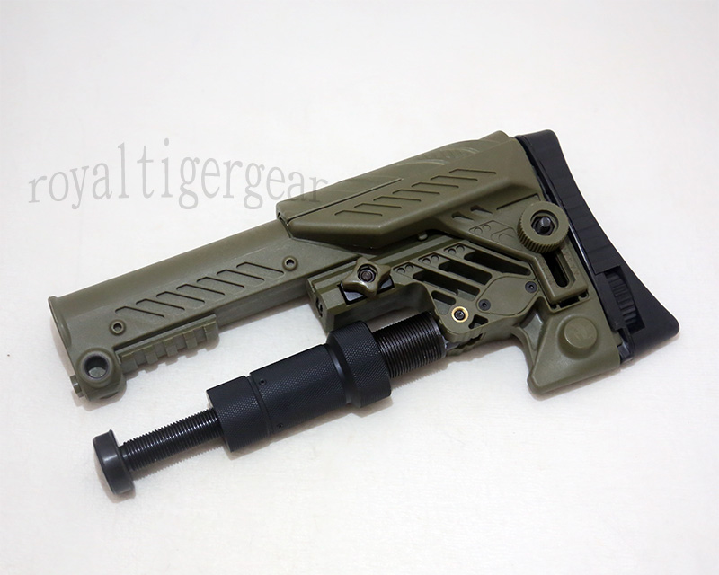 SRS ARS - AR style Multi Purpose Position Sniper Buttstock - Ver.Long - Foliage Green