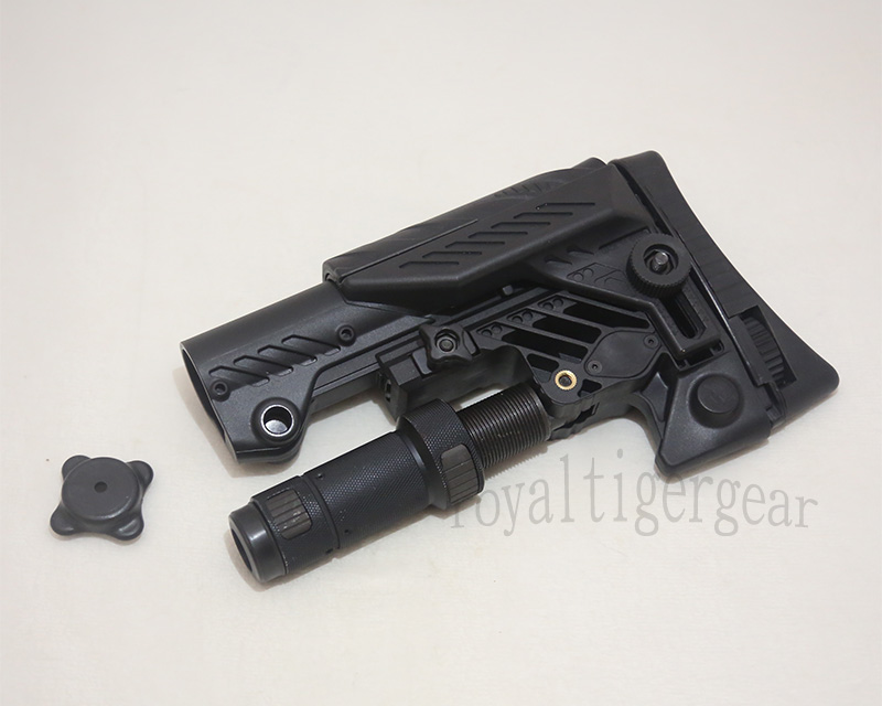 SRS ARS - AR style Multi Purpose Position Sniper Buttstock - Ver.Short - Black