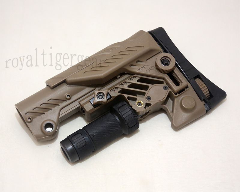 SRS ARS - AR style Multi Purpose Position Sniper Buttstock - Ver.Short - Dark Earth