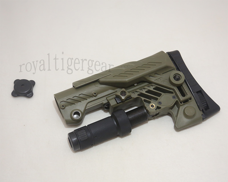 SRS ARS - AR style Multi Purpose Position Sniper Buttstock - Ver.Short - Foliage Green