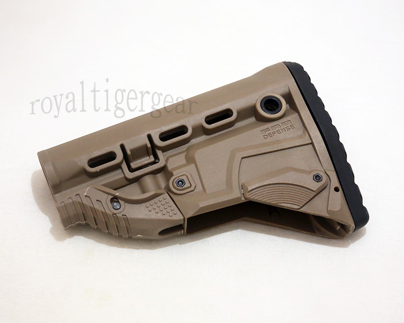 FAB GK-MAG Rifle Buttstock – AK Bulit-in Mag Carrier - Dark Earth
