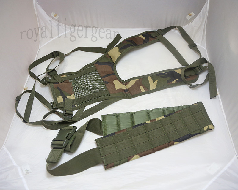 Load Balancing Suspender with Belt set – US M81 Woodland Camo