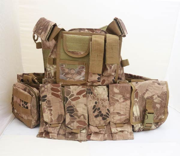 LT6094 Plate Carrier Vest w/ Pouch - Python Snake Camo MAD