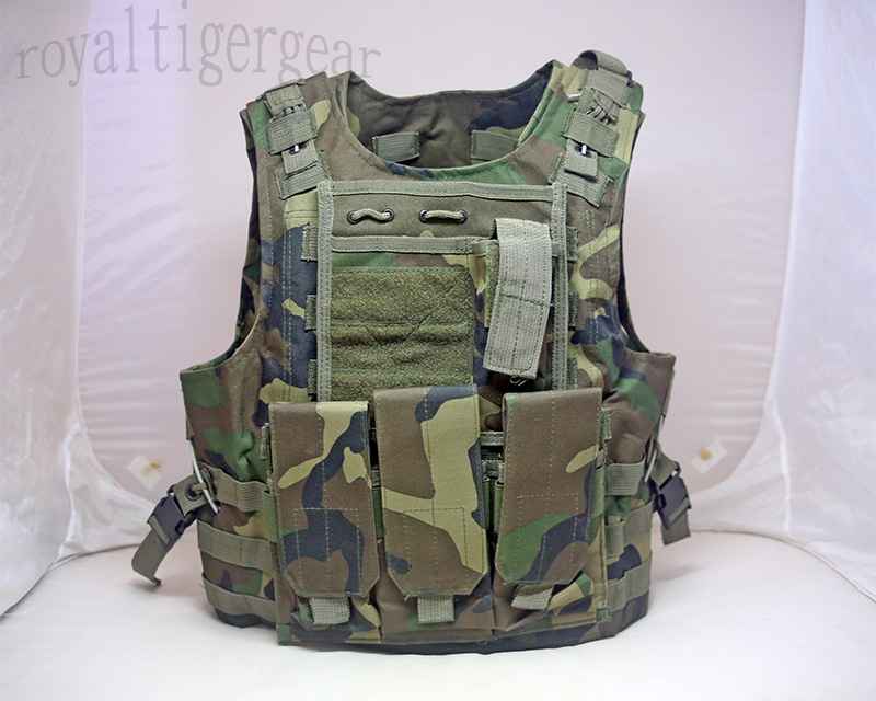 FSBE vest with pouches - US Woodland M81 Camo