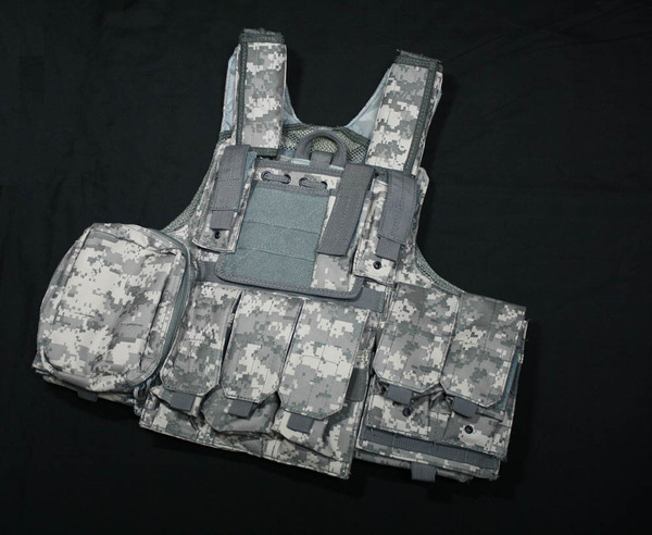 CIRAS vest with pouches - ACU