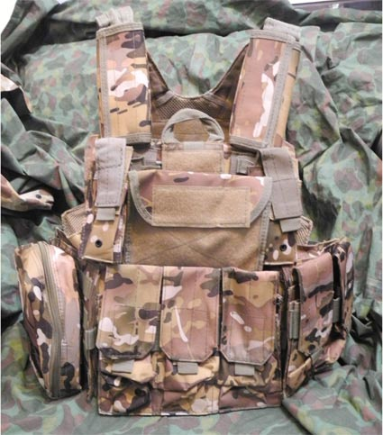 CIRAS vest with pouches - Multicam MC