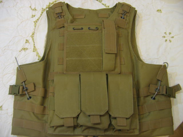 FSBE vest with pouches - Tan
