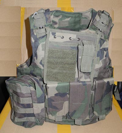 FSBE vest with pouches - US Woodland M81