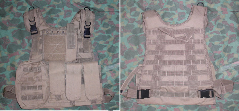 Tactical Plate Vest with Pouches - Tan
