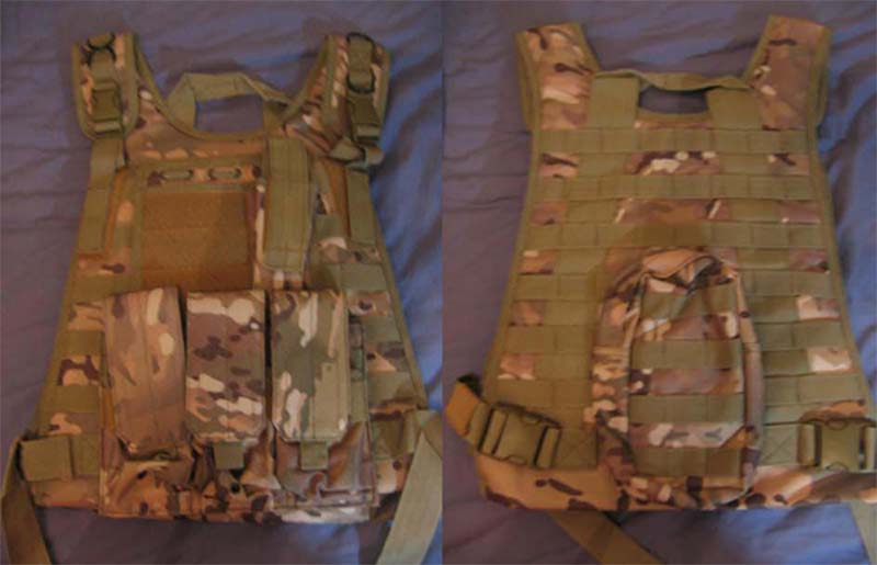 Tactical Plate Vest with Pouches - Multicam MC