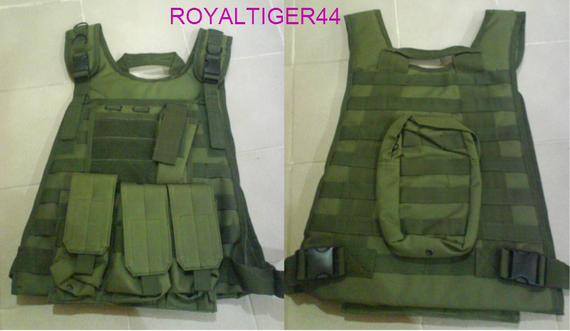 Tactical Plate Vest with Pouches - OD