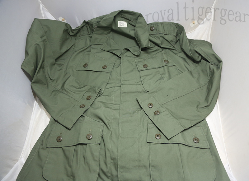 US Vietnam 1st Pattern Poplin Jungle Fatigue Shirt Top