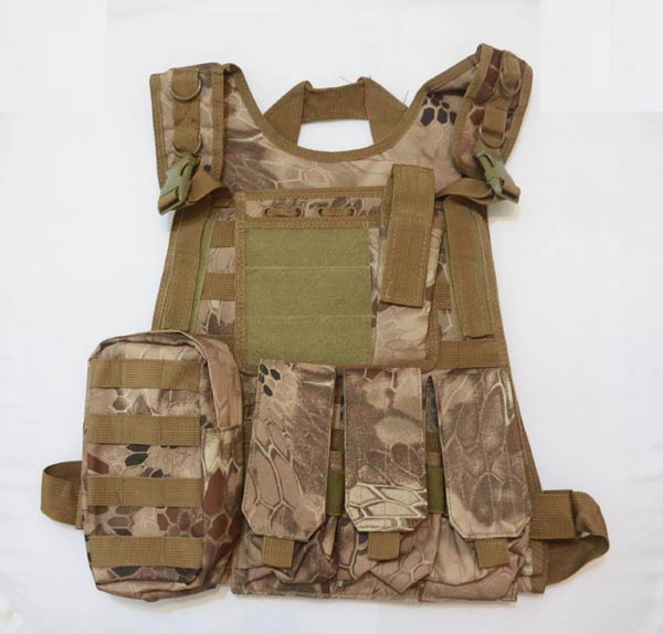 Tactical Plate Vest with Pouches - Python Snake Camo MAD