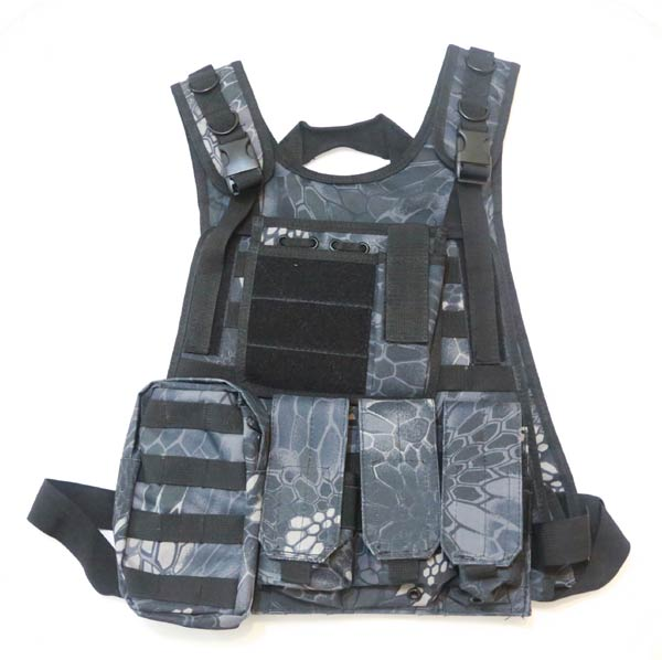Tactical Plate Vest with Pouches - Python Snake Camo TYP Night Urban Marines
