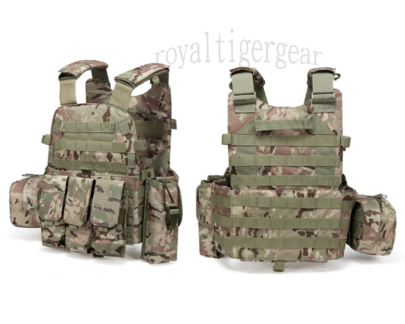 LT6094 Plate Carrier Vest w/ Pouch - Multicam MC