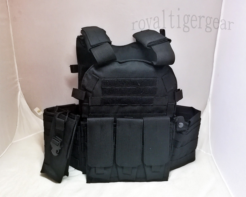 LT6094 Plate Carrier Vest w/ Pouch - Black