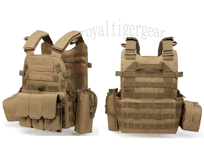 LT6094 Plate Carrier Vest w/ Pouch - Tan