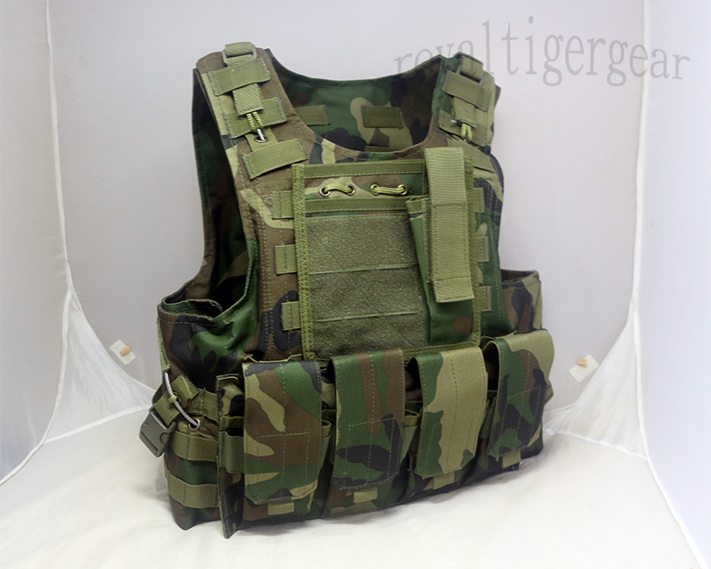 FSBE vest with pouches - US M81 Woodland Camo
