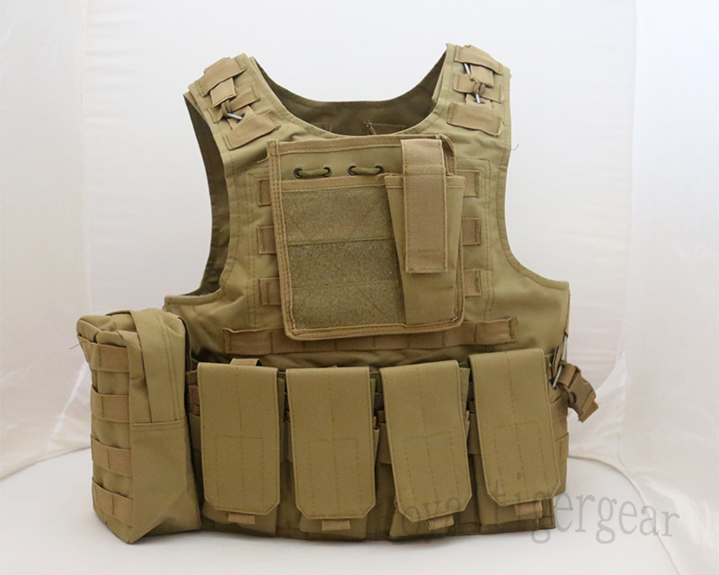 FSBE vest with pouches - Tan - ver. 4 Mag