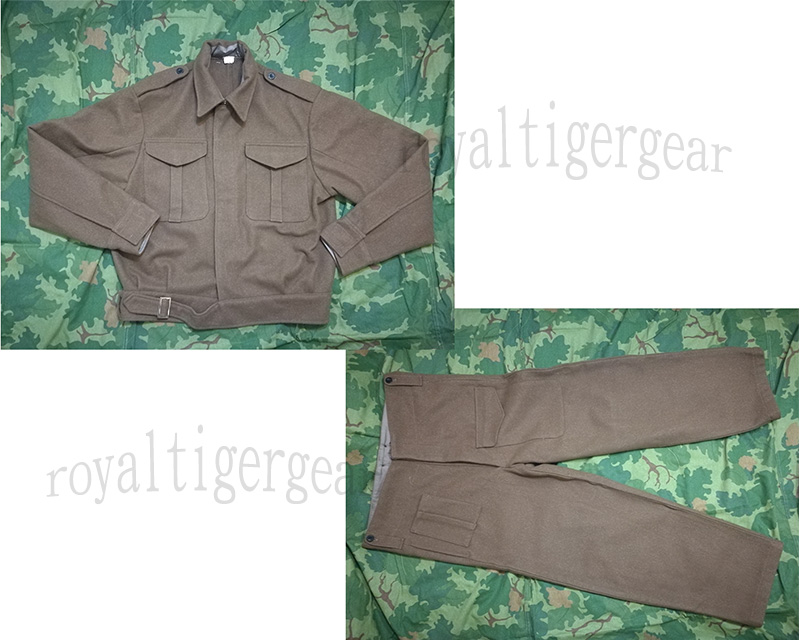 WW2 Britain P37 Battledress Fatigue Shirt Pants Set