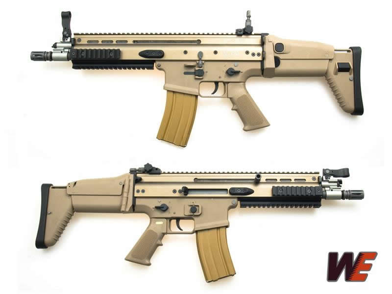 WE SCAR-L Gas Blow Back GBB Rifle - Dark Earth