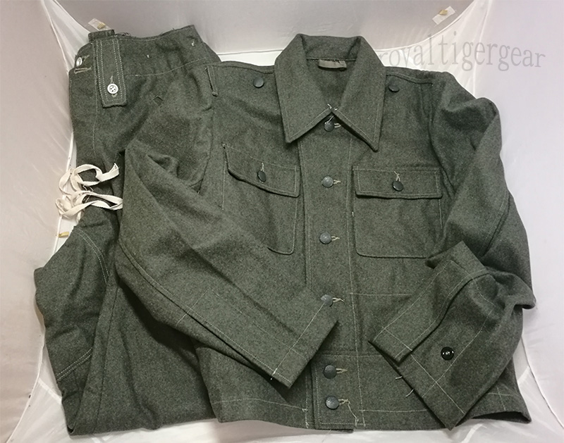 WW2 German M44 Infantry Soldier Jacket Tunic Pants Uniform