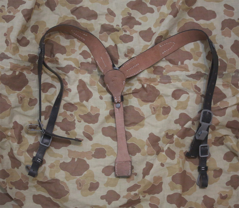 WW2 German Y-Strap Leather Suspender