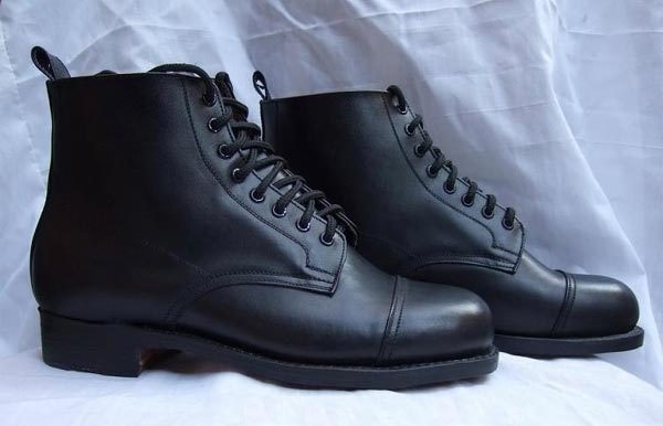 WW2 German Infantry / Tank Crews Low Ankle Leather Boots
