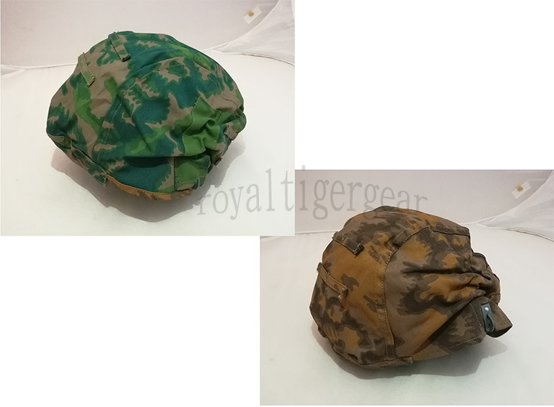 WW2 German SS Palm Tree Spring / Autumn Reversible Helmet Cover