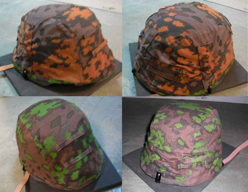 WW2 German SS Oak Leaf Camo Reversible Helmet Cover