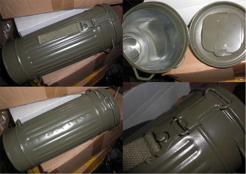 WW2 Germany Gas Mask Container - Green