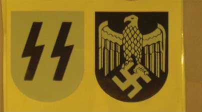WW2 German SS Helmet Decal Sticker