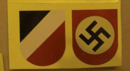 WW2 German Wehrmacht Helmet Decal Sticker