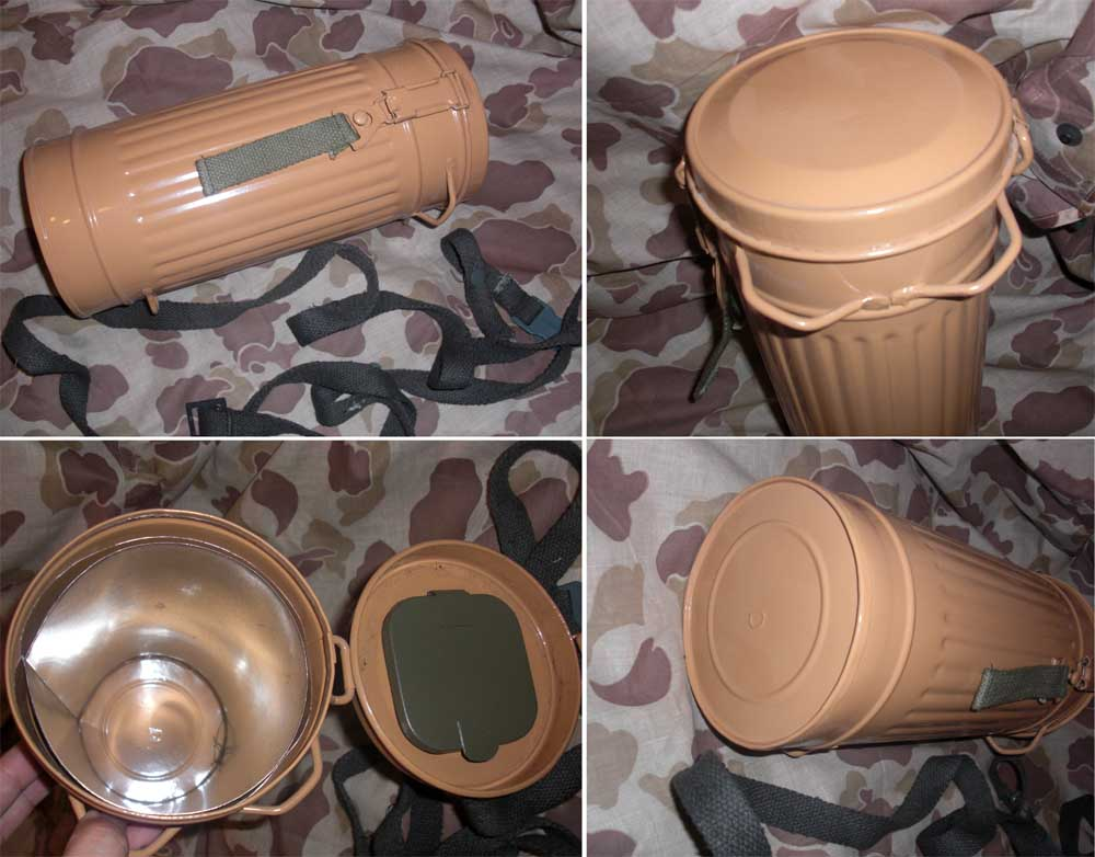 WW2 Germany Gas Mask Container - Tan
