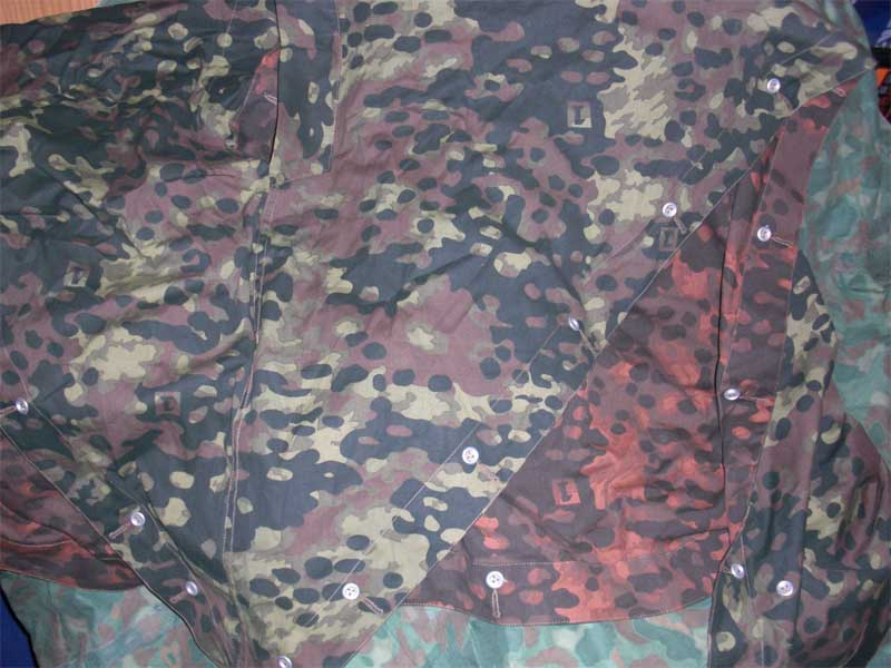 WW2 German Plane Tree Reversible Camo Zeltbahn Poncho Tent Cover No.1