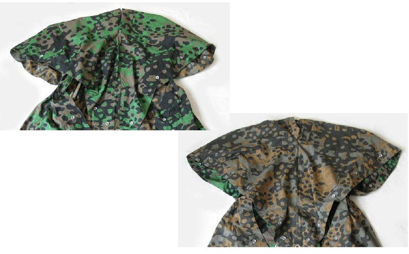 WW2 German SS No.3 Plane Tree Camo Reversible Zeltbahn