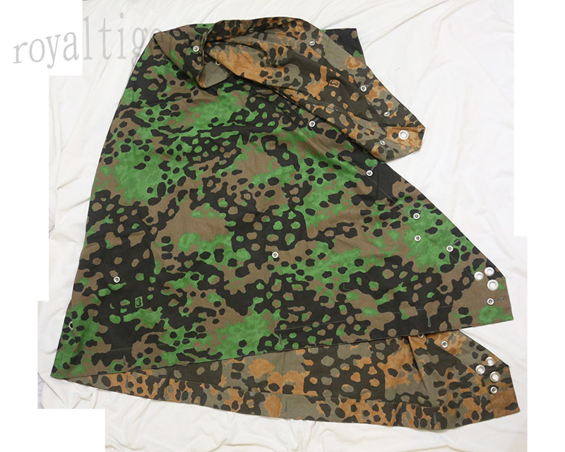 WW2 German Plane Tree Reversible Camo Zeltbahn Poncho Tent Cover No.3