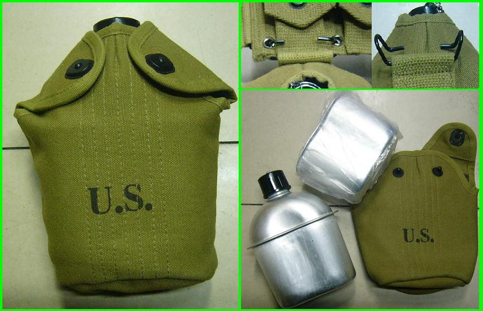WW2 US Army M1936 Canteen / Pouch / Cup Set