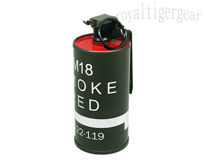 US M18 Dummy Smoke Grenade Container Model - Red
