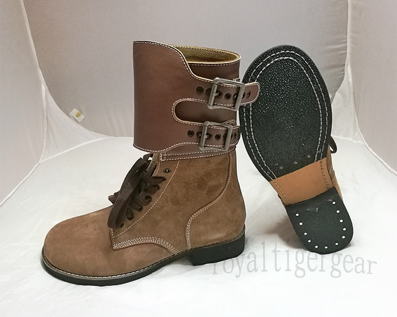 WW2 US Army Leather Double Buckle Boots
