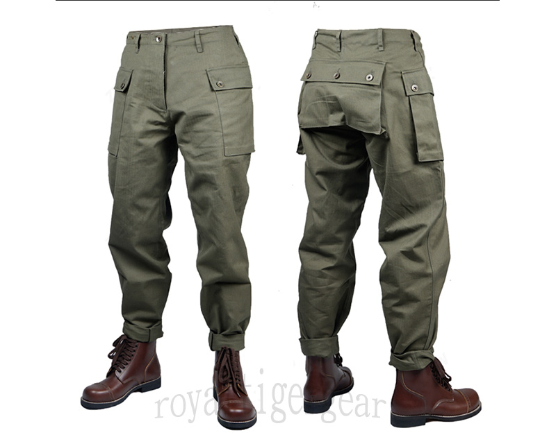WW2 USMC US Marines Corps P44 HBT Monkey Trousers Pants