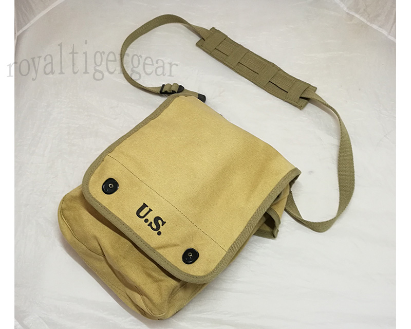 WW2 US M1938 Map Dispatch Case Shoulder Pouch Pack