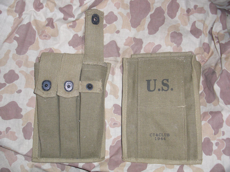 WW2 US Thompson Tommy Gun 30 Rounds Ammo 3 Cells Mag Pouch